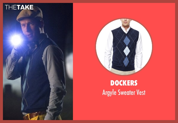 Dockers blue vest from Scream Queens seen with Chad Radwell (Glen Powell)