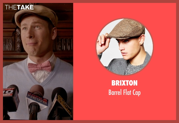 Brixton brown cap from Scream Queens seen with Chad Radwell (Glen Powell)