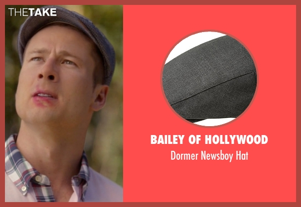 Bailey of Hollywood gray hat from Scream Queens seen with Chad Radwell (Glen Powell)