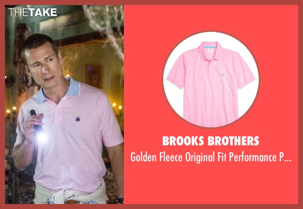 Brooks Brothers pink shirt from Scream Queens seen with Chad Radwell (Glen Powell)