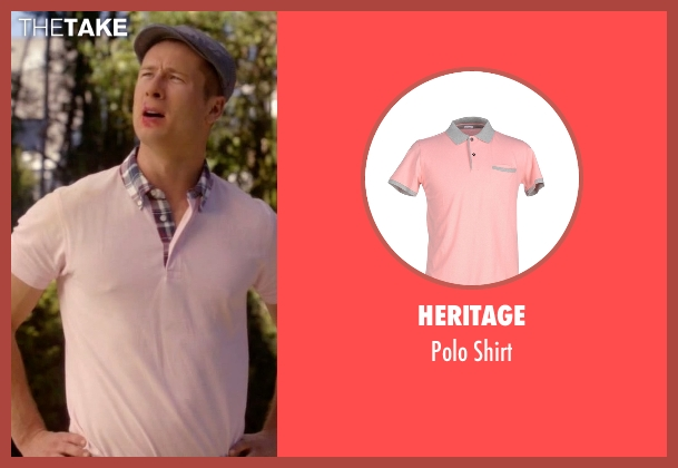 Heritage pink shirt from Scream Queens seen with Chad Radwell (Glen Powell)