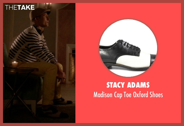 Stacy Adams white shoes from Scream Queens seen with Chad Radwell (Glen Powell)