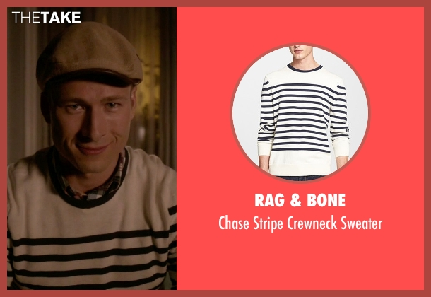 Rag & Bone white sweater from Scream Queens seen with Chad Radwell (Glen Powell)