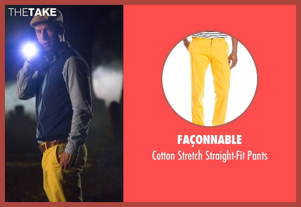 Façonnable yellow pants from Scream Queens seen with Chad Radwell (Glen Powell)