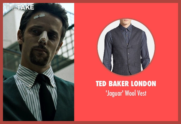 Ted Baker London gray vest from Fight Club seen with Unknown Actor (Unknown Character)