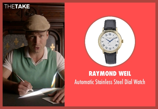 Raymond Weil black watch from Scream Queens seen with Chad (Glen Powell)