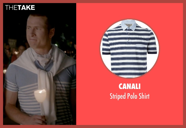 Canali blue shirt from Scream Queens seen with Chad (Glen Powell)