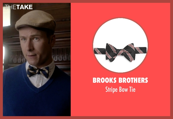 Brooks Brothers blue tie from Scream Queens seen with Chad (Glen Powell)