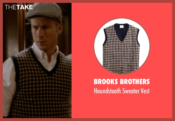 Brooks Brothers blue vest from Scream Queens seen with Chad (Glen Powell)