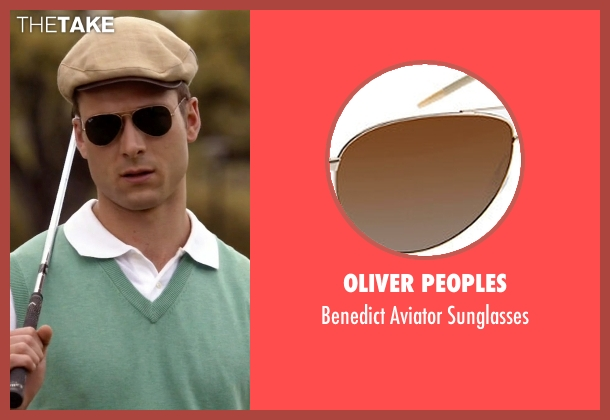 Oliver Peoples brown sunglasses from Scream Queens seen with Chad (Glen Powell)