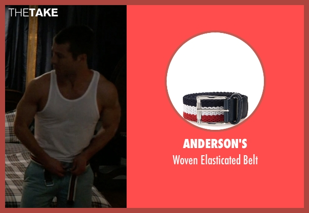Anderson's red belt from Scream Queens seen with Chad (Glen Powell)