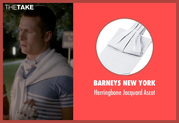 Barneys New York white ascot from Scream Queens seen with Chad (Glen Powell)