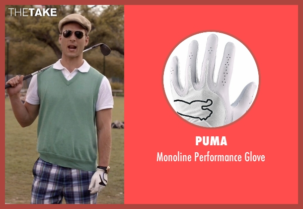 Puma white glove from Scream Queens seen with Chad (Glen Powell)