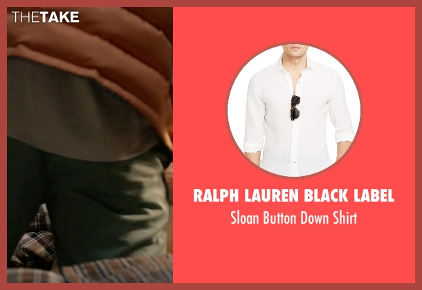 Ralph Lauren Black Label white shirt from Scream Queens seen with Chad (Glen Powell)