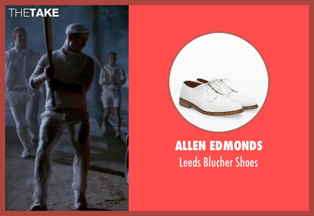Allen Edmonds white shoes from Scream Queens seen with Chad (Glen Powell)