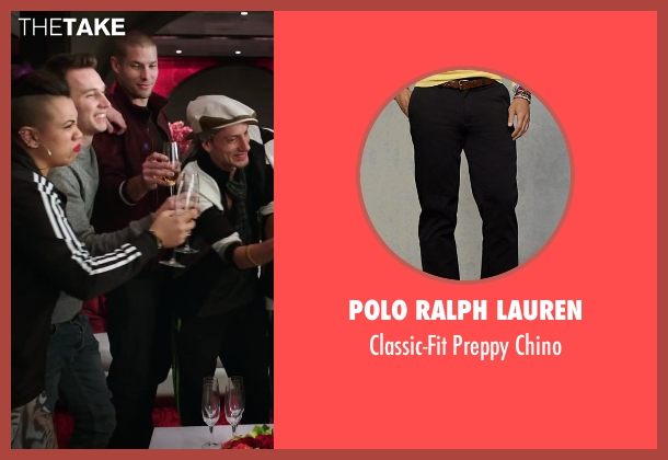 Polo Ralph Lauren black chino from Step Up: All In seen with Chadd Smith (Vladd)
