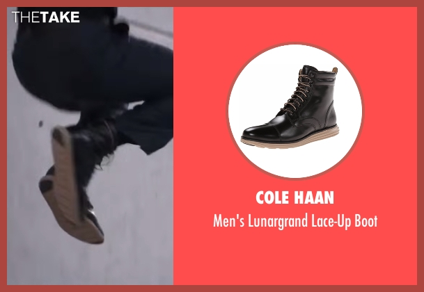 Cole Haan black boot from Captain America: Civil War seen with Chadwick Boseman (T'Challa / Black Panther)