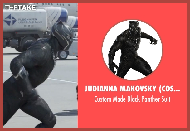 Judianna Makovsky (Costume Designer) suit from Captain America: Civil War seen with Chadwick Boseman (T'Challa / Black Panther)