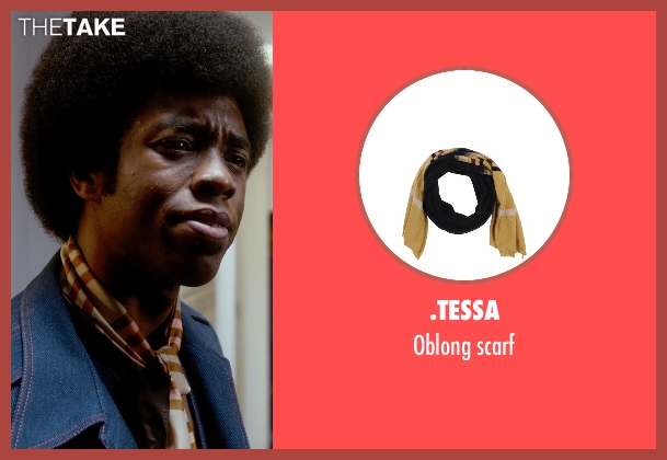 .Tessa beige scarf from Get On Up seen with Chadwick Boseman (James Brown)