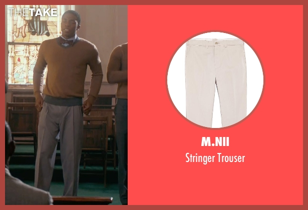 M.Nii beige trouser from Get On Up seen with Chadwick Boseman (James Brown)