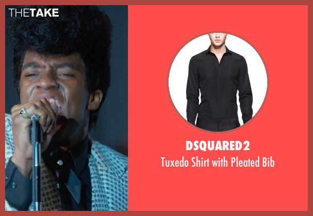 Dsquared2 black bib from Get On Up seen with Chadwick Boseman (James Brown)