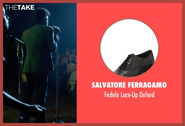 Salvatore Ferragamo black oxford from Get On Up seen with Chadwick Boseman (James Brown)