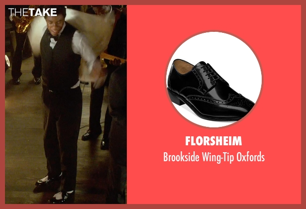 Florsheim black oxfords from Get On Up seen with Chadwick Boseman (James Brown)