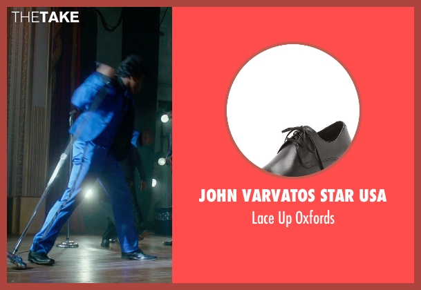 John Varvatos Star USA black oxfords from Get On Up seen with Chadwick Boseman (James Brown)