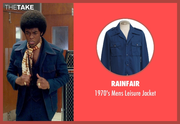 Rainfair blue jacket from Get On Up seen with Chadwick Boseman (James Brown)