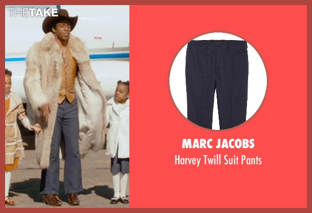 Marc Jacobs blue pants from Get On Up seen with Chadwick Boseman (James Brown)