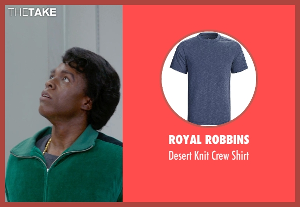 Royal Robbins blue shirt from Get On Up seen with Chadwick Boseman (James Brown)
