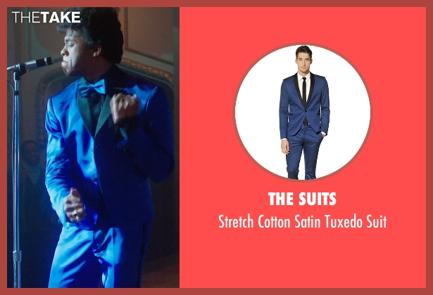 The Suits blue suit from Get On Up seen with Chadwick Boseman (James Brown)