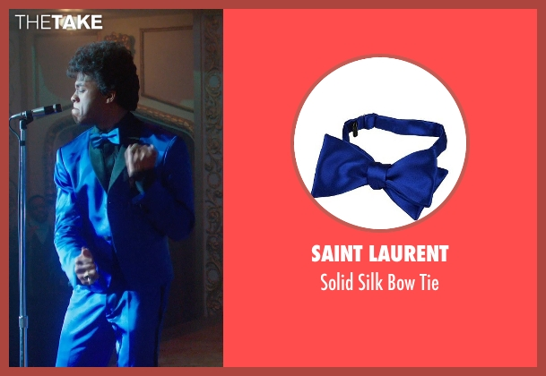 Saint Laurent blue tie from Get On Up seen with Chadwick Boseman (James Brown)