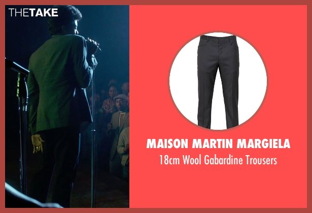 Maison Martin Margiela blue trousers from Get On Up seen with Chadwick Boseman (James Brown)