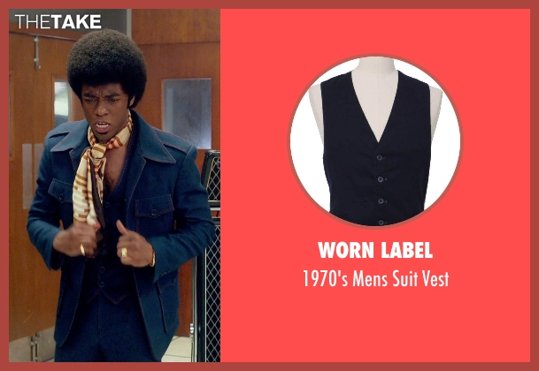 Worn Label blue vest from Get On Up seen with Chadwick Boseman (James Brown)