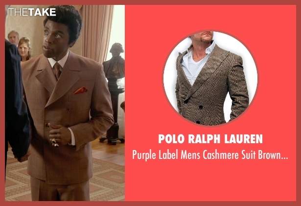 Polo Ralph Lauren brown 42l from Get On Up seen with Chadwick Boseman (James Brown)