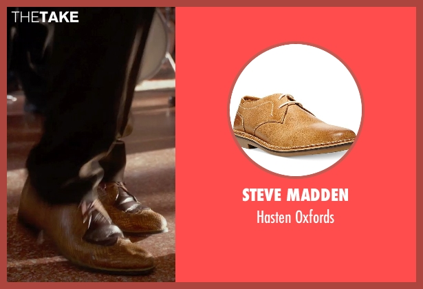 Steve Madden brown oxfords from Get On Up seen with Chadwick Boseman (James Brown)