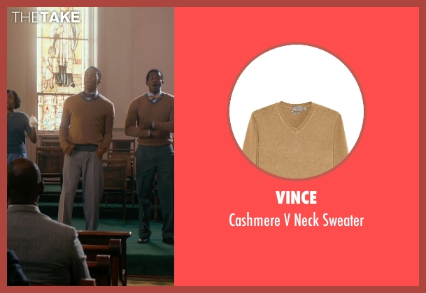 Vince brown sweater from Get On Up seen with Chadwick Boseman (James Brown)