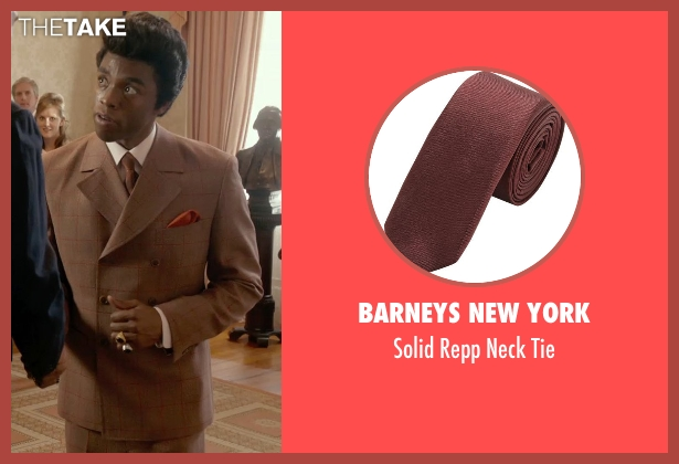 Barneys New York brown tie from Get On Up seen with Chadwick Boseman (James Brown)