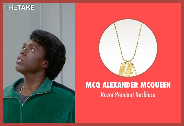 Mcq Alexander Mcqueen gold necklace from Get On Up seen with Chadwick Boseman (James Brown)