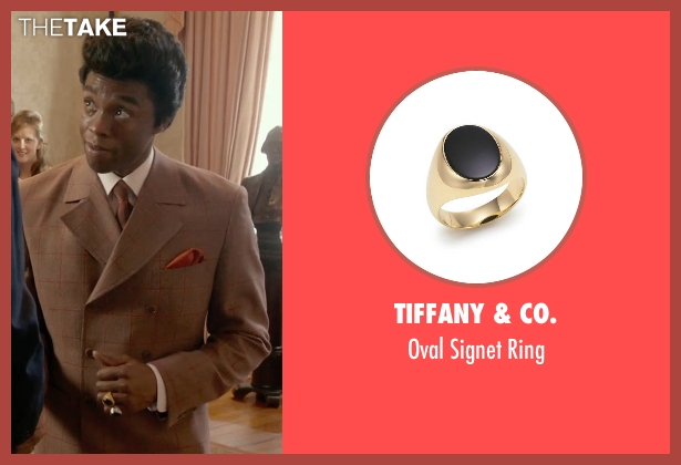 Tiffany & Co. gold ring from Get On Up seen with Chadwick Boseman (James Brown)