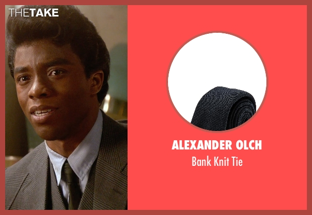 Alexander Olch gray tie from Get On Up seen with Chadwick Boseman (James Brown)