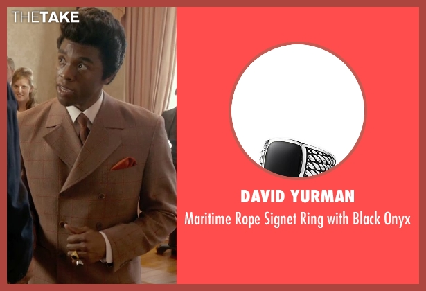 David Yurman onyx from Get On Up seen with Chadwick Boseman (James Brown)