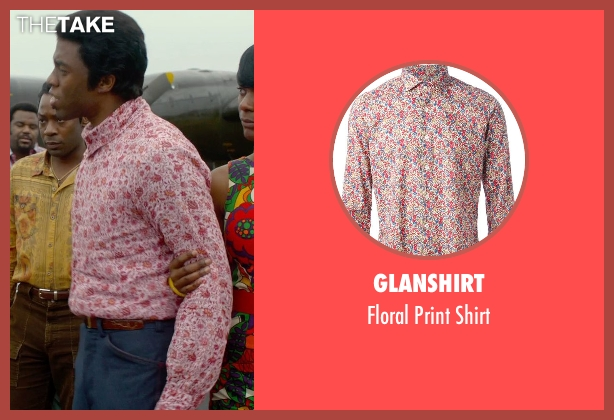 Glanshirt pink shirt from Get On Up seen with Chadwick Boseman (James Brown)