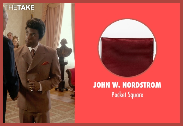 John W. Nordstrom red square from Get On Up seen with Chadwick Boseman (James Brown)