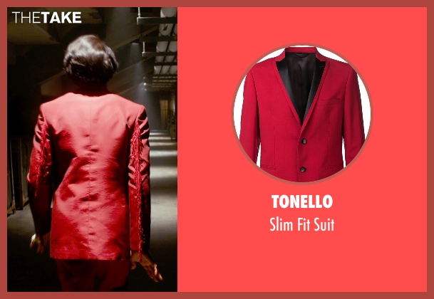 Tonello red suit from Get On Up seen with Chadwick Boseman (James Brown)