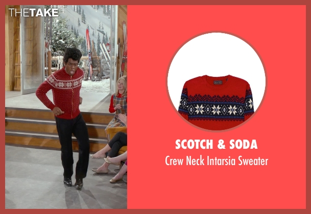 Scotch & Soda red sweater from Get On Up seen with Chadwick Boseman (James Brown)