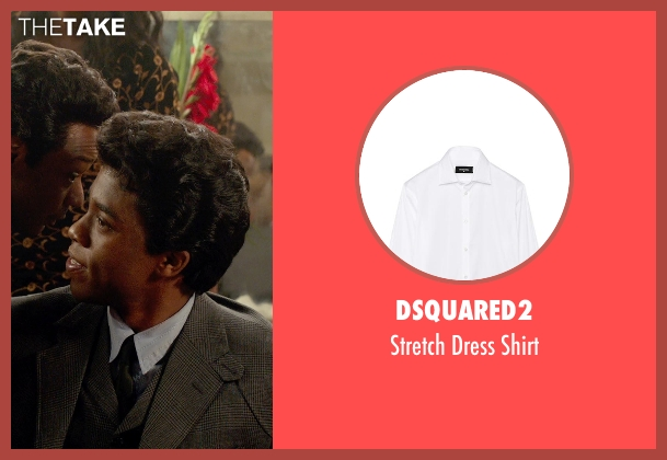 DSquared2 white shirt from Get On Up seen with Chadwick Boseman (James Brown)