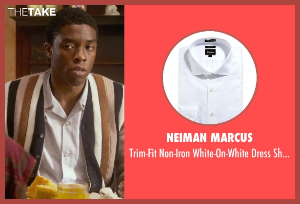 Neiman Marcus white shirt from Get On Up seen with Chadwick Boseman (James Brown)