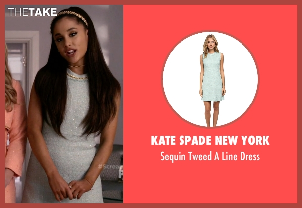 Kate Spade New York blue dress from Scream Queens seen with Chanel #2 (Ariana Grande)